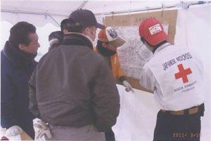 石巻赤十字病院での救護活動の様子